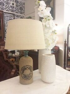 Blue Glass Table Lamp With Cord Detailing and Taupe Shade Sydney City Inner Sydney Preview