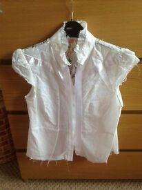LADIES WHITE SHIRT SIZE 10