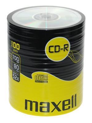 100 Maxell CD-R 52x Rohlinge 700MB Rohling in 100er shrink TOP Qualität