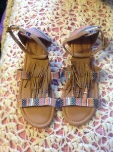 Brand new without tags tassel sandles