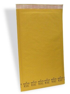 50 6 12.5x19 X-wide Ecolite Usa Kraft Bubble Mailers Envelopes From Theboxery