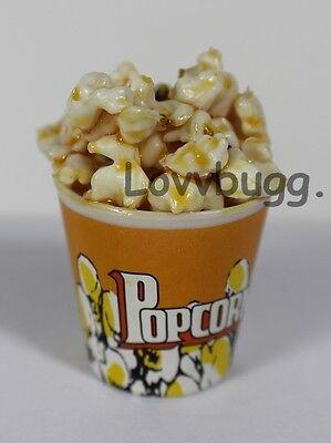 "Lovvbugg Realistic Movie Popcorn for 18"" American Girl Doll Food Doll Accessory"