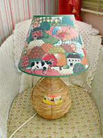 Country Animal Table Lamp - Wine Jug base