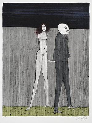 PAUL WUNDERLICH - Maler und Modell (2001) Original Farblithografie Grafik Bilder