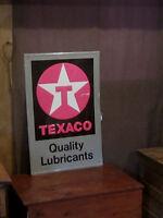 Vintage Texaco Lubricants embossed tin sign