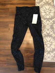 BRAND NEW LULULEMON PATTERNED TIGHTS WITH TAGS