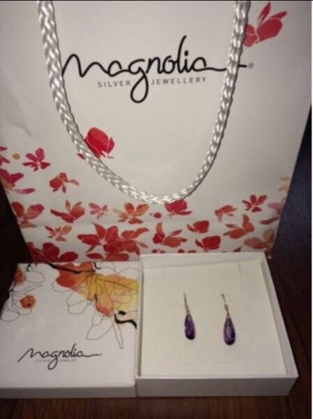 Magnolia Amethyst Earrings - Brand New (Unwanted Gift)
