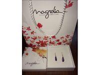Magnolia Amethyst Earrings - Brand New (Unwanted Gift)