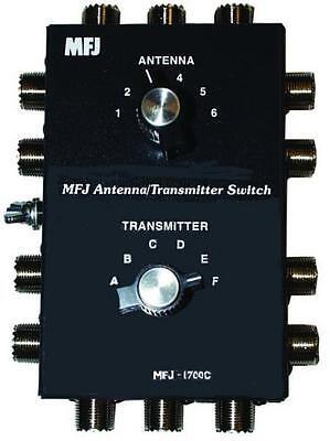 MFJ-1700C 6 POSITION ANTENNA/TRANSCEIVER SWITCH Mfj Antenna Switch