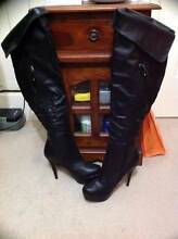 Black High Heel Boots Aus Size 7 New in Box $140. East Cannington Canning Area Preview
