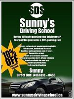SUNNYS DRIVING SCHOOL - FOR ALL YOU G1, G2 AND G LICENSE NEEDS