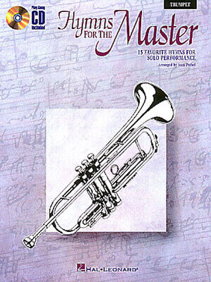 Hymns for the Master for Trumpet Solo Christian Sheet Music Play-Along Book -