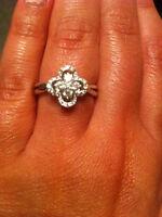 NEW DIAMOND RING -- 14kt white gold
