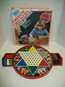 Vintage-Chinese Checkers-Deluxe model with storage drawers. London Ontario image 1