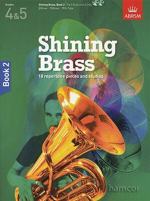 Shining Brass Book 2 Grades 4-5 ABRSM Music Book/CD Trumpet Trombone Horn Tuba