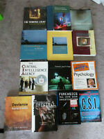 14 Criminology Textbooks Books Psychology Law - price is for ALL
