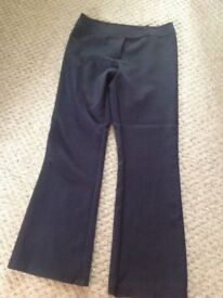 LADIES NAVY BOOTCUT TROUSERS FROM DOROTHY PERKINS