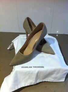 New Scanlan & Theodore Cavallino Pony Stiletto Shoes 37 Dust Bag Hampton Bayside Area Preview