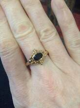 Yellow 9ct gold and sapphire ring. Unwanted gift. Size P Eaton Dardanup Area Preview