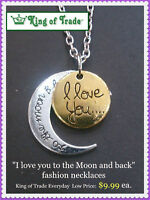 King of Trade - I Love You to the Moon and Back Necklaces