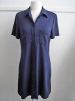 Jacob Short Sleeves Dress - Navy - Ladies Size S / M