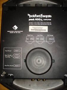 Rockford Fosgate Punch Amplifier 400x4 Trans-Ana (Car Amp) West Island Greater Montréal image 4