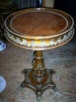 BEAUTIFUL KING LOUIS STYLE BURL TOP TABLE