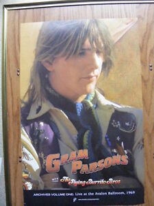 """FS: Gram Parsons with The Flying Burrito Brothers """"Promo"""" Sheet London Ontario image 1"""