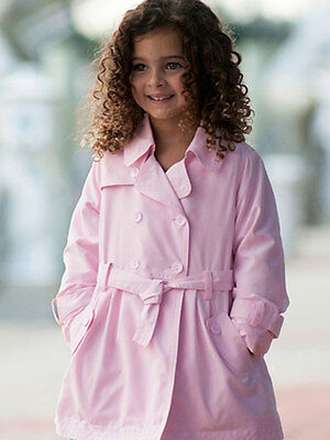 Sarah Louise Toddler & Little Girls Pink Spring Trench Style Coat Sizes 2-8