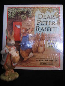 "ROYAL ALBERT ""PETER WITH POSTBAG"" FIGURINE AND BOOK"