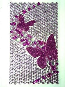 Bling Jewelry Rhinestone Sticker - Purple Butterflies