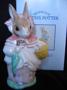 "ROYAL ALBERT LARGE ""MRS. RABBIT"" FIGURINE"