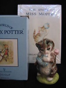 "BESWICK ""MISS MOPPET"" FIGURINE AND BOOK"