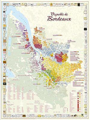 Carte du Vignoble de Bordeaux - POSTER