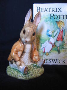 "BESWICK ""BENJAMIN BUNNY SAT ON A BANK"" FIGURINE (HEAD DOWN)"