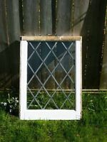 8 Leaded Stained Glass Windows (Clear)