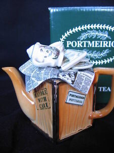 PORTMEIRION MINIATURE TEAPOT MADE IN ENGLAND