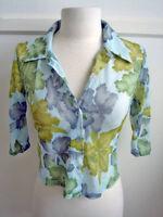 3/4 Sleeves Sheer Top / Shirt / Blouse