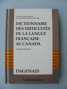 «Dictionnaire des difficultés de la langue française au Canada»