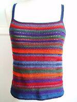 Rainbow Color Crochet Tank Top / Sleeveless / Cami