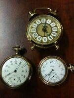 Illinois-Waltham-Pocket watches-Alarm Clock