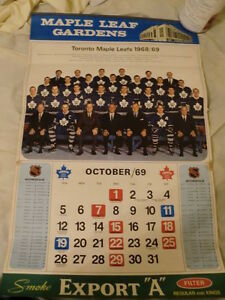 Toronto Maple Leaf Calenders  1969 + 1968