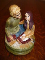 "VINTAGE 1971 CHADWICK MILLER MUSIC BOX ""LOVE STORY"" FIGURINE"
