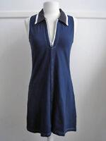 Navy Sleeveless Cotton Dress - Size S/M
