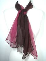 Rose Brown Pure Silk Scarf