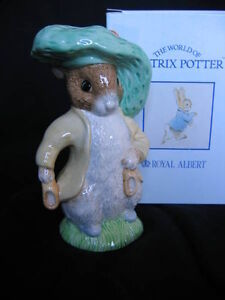 "ROYAL ALBERT LARGE ""BENJAMIN BUNNY"" FIGURINE"