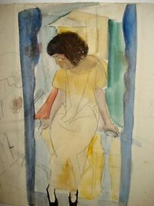 1930s Sketch & Watercolor By William Zorach ~ Listed Artist