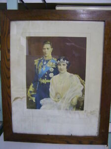 Vintage Picture of King George and Queen Elizabeth