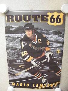 "FS: 1992 Mario Lemieux (Pittsburgh Penguins) ""Route 66"" Sheet London Ontario image 1"