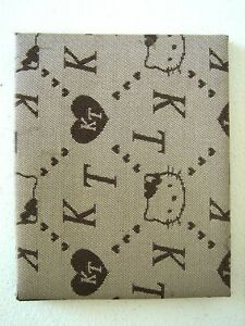 Magic Wallet - Brown Hello Kitty Patterned Fabric